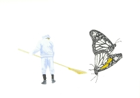 'Butterflies and the human soul', 2010, watercolour on 300gsm Arches, 14.9cm x 21.1cm