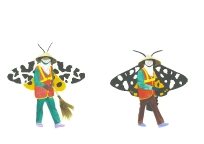 'Butterfly Lady Sweepers (Full Circle)', 2010, watercolour on 300gsm Arches, 14.9cm x 21.1cm