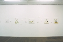 Installation of the 'I am a Mouse Cool' series, 2001, Soapbox Gallery, Brisbane