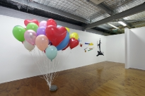 56_warrior-constructivisim-2011-acrylic-on-wall-balloons-and-cement-paver-milani-gallery-brisbane_0